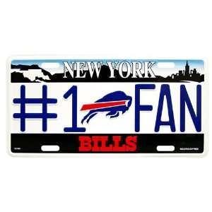NFL Bills #1 Fan Metal License Plate