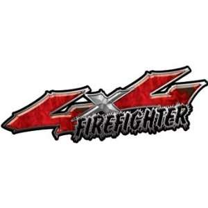 Series 4x4 Truck Firefighter Edition Decals in Inferno Red: Automotive