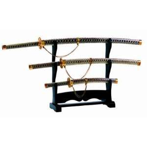 Valor Sword Set (3) All Snakeskin w/Stand Sports