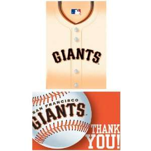 Francisco Giants Baseball   Invite & Thank You Combo