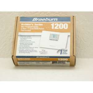 BUILDERS SERIES NON PROGRAMMABLE 2 HEAT/1 COOL HEAT PUMP THERMOSTAT