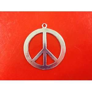 5 Piece Peace Sign Antique Silver Tibetan Style Charms