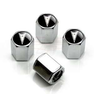 Black Logo Chrome Tire Stem Valve Caps, Official Licensed Automotive