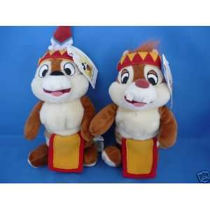 Indian Chip and Dale 8 Plush Bean Bag Doll Set Mint with Tags Toys