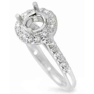 com Classic Square Shape Halo Pave Set Round Diamond Engagement Ring