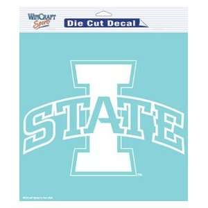Iowa State Cyclones Die Cut Decal   8in x8in White