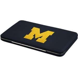 Michigan Wolverines Ladies Navy Blue Flat Wallet Sports & Outdoors