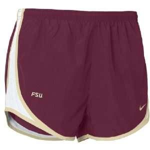 Florida State Seminoles Womens Dri FIT Tempo Running Shorts By Nike