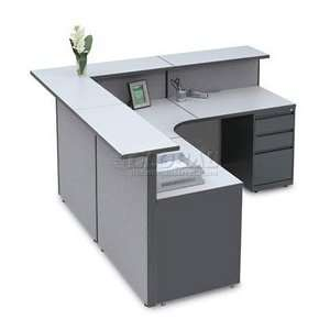 Large L Shaped Reception Station, 79W X 79D X 43H Office Products