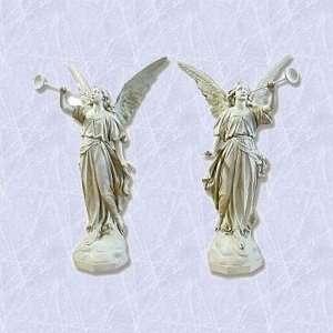 Trumpet Angel statue home garden italian sculpture New