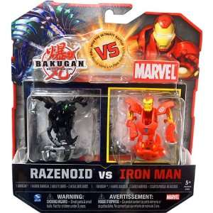 Bakugan vs. Marvel 2Pack Black Razenoid vs. Iron Man Yellow Face