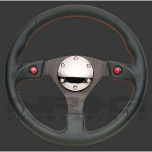 NRG Two Button Leather Steering Wheel ST 007R Automotive
