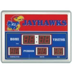 University of Kansas Jayhawks Lg Scoreboard Clock Sports