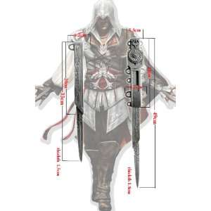 : Assassins Creed 2 II Hidden Blades Set of 2 Replica: Toys & Games