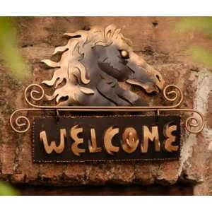 Iron Welcome Sign Golden Horse Welcome