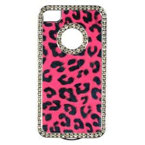 CHROME CASE HOT PINK LEOPARD PU LEATHER REAR CASE ONLY Electronics