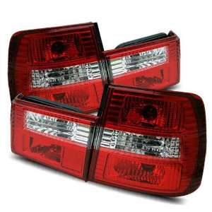 88 95 BMW E34 5 Series Red/Clear Tail Lights Automotive