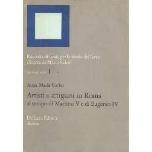 artigiani in Roma al tempo di Martino V e di Eugenio IV (Raccolta di