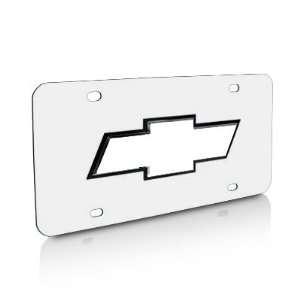 Chevrolet Black Edge Chrome Steel License Plate