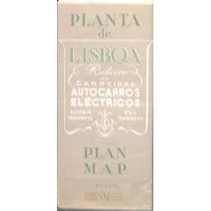 Planta de Lisboa   1944 Map of Lisbon, Porutgal: Printed