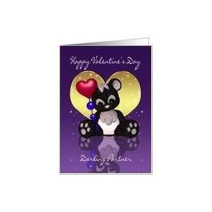 Partner Valentines Day Card   Cute Panda Bear Card