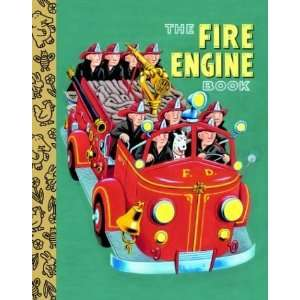 Fire Engine Book (Little Golden Treasures) [Board book] Golden Books