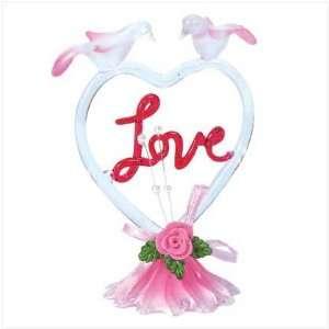 GLASS HEART SHAPED LOVE DECORATIVE GIFT FIGURE STATUE