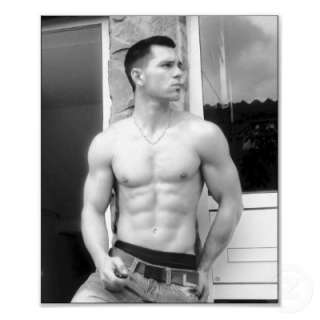 Alon Gabbay   Beautifu Muscle Guy Poster from Zazzle