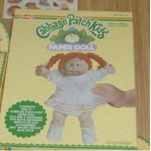 Original 1983 Cabbage Patch Kids Paper Doll Toys & Games