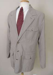 Travelsmith Travel Blazer Jacket Stone 44L Pockets! Perfect