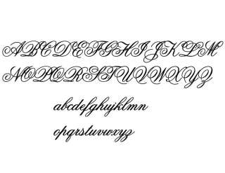 FANCY SCRIPT Vinyl Decals UP to 20 Letters Any Color