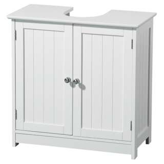 Under Sink Bathroom Cabinet White Wood, 2402060