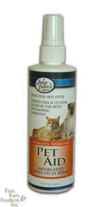 PET AID Anti Itch Spray for Dogs & Cats Flea Allergies