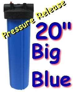Big Blue 20 Whole House Water Sediment Filter 1.5 Pipe Connections