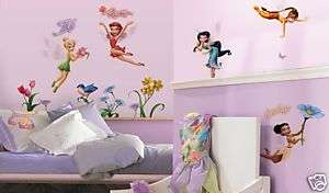 DISNEY 23 BiG TINKERBELL Fairies Wall Stickers Room |