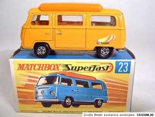 Matchbox SF No.23A VW Camper orange, orange interior
