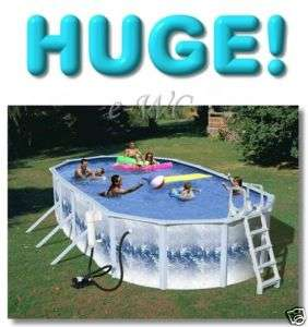 24FT L Oval Above Ground 52H Swimming Pool & Package