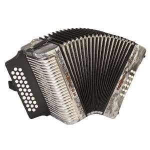 Hohner Accordions 3500GGR 43 Key Accordion: Musical