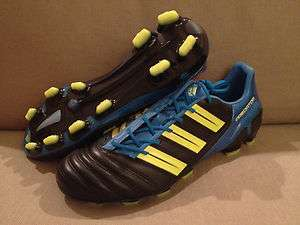 adidas adiPower Predator TRX FG CL Black/Yellow/Blue Mens Soccer