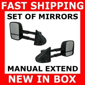 MIRROR CHEVY GMC TRUCK POWER HEATED TOW TOWING SET PAIR