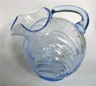 Cambridge Caprice Moonlight Blue Glass Water Pitcher |