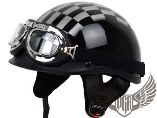Carbon Fiber PGR Motorcycle Helmet w/ Goggle Harley XXL