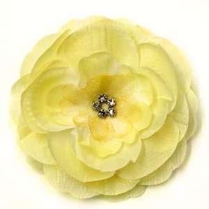 Camellia Rhinestone Fabric Flower Hat Hair Clip & Pin Brooch F10973