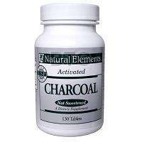 Pure Activated Charcoal Powder, 130 Tabs, #NHCAC130