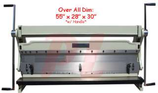 40 x 20 GAUGE Sheet Metal Shear Finger Pan Box Brake Bender Slip Roll