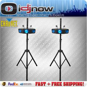 CHAUVET MEGA TRIX LED DJ DMX RGBW LIGHTING EFFECT TWO PACK w/ SPEAKER
