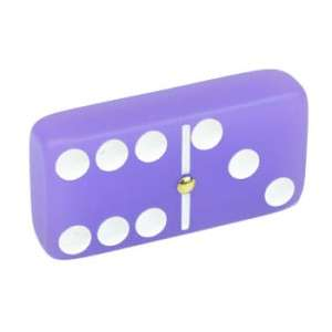 Dominoes Domino Double 6 Six Frosted Purple Amethyst Spinners Gold