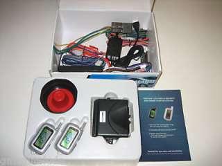 FM 2 WAY CAR ALARM REMOTE START + POWER DOOR LOCK KIT