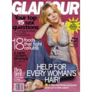 Glamour Magazine Meg Ryan April 2005 Issue (Mena Suvari