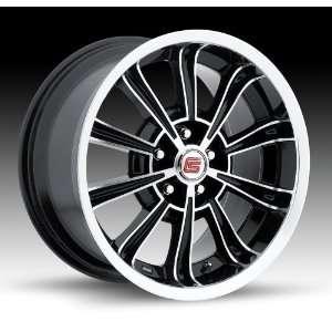 18x8.5 Carroll Shelby CS66 (Gloss Black w/ Machined Lip) Wheels/Rims